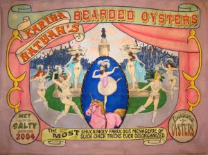 Bearded Oysters Circus Banner by New Orleans Artist Molly Magwire